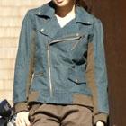【特価品】ROSSO レディース ライディングデニムジャケット