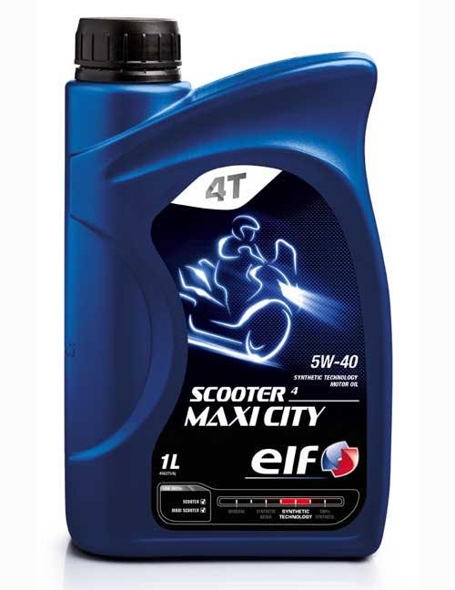 elf 〔WEB価格〕SCOOTER 4 MAXI CITY 5W40  1L 183331 3267025007637 化学合成油