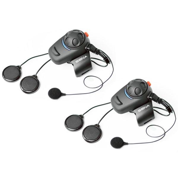 SMH5D-02 フルフェイスヘルメット向きケーブル型マイク デュアルパック(2人用セット)