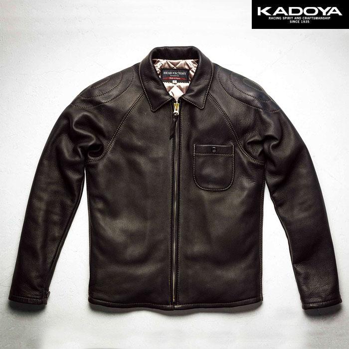 KADOYA 〔WEB価格〕【受注生産】 【大きいサイズ】 EARLY SPRINTER MD-1 レザージャケット 防寒