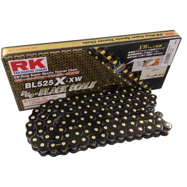 RK JAPAN 〔WEB価格〕BL520X-XW XWリングチェーン 『BLACK SCALE』