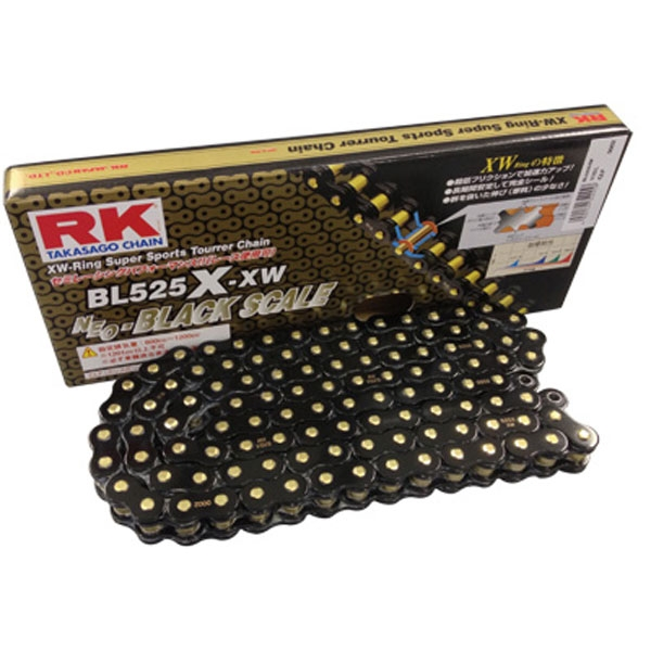 RK JAPAN BL530X-XW XWリングチェーン 『BLACK SCALE』