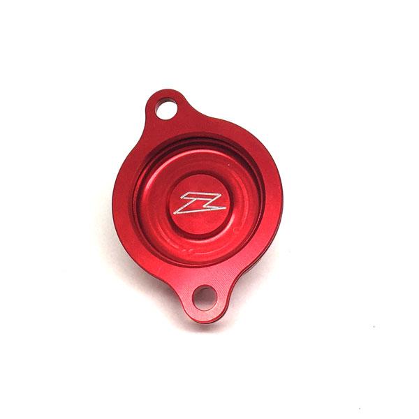 DIRTFREAK 【WEB価格】ZE90-1063 ZETA オイルフィルターカバー CRF250R'10-17 RED