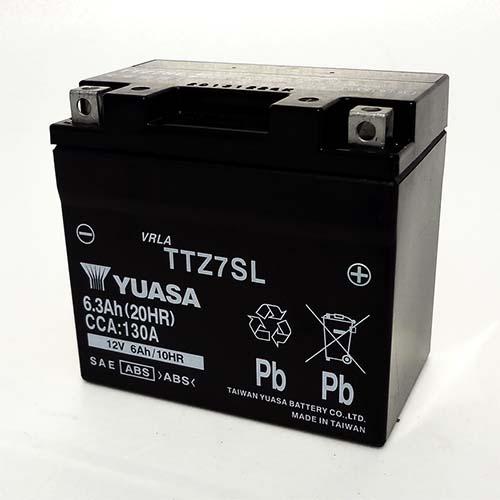 台湾ユアサ 台湾ユアサバッテリー TTZ7SL(TTZ7SL互換) 液入充電済み
