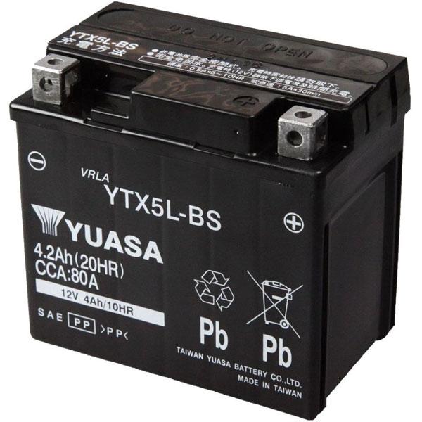 台湾ユアサ 台湾ユアサバッテリー YTX5L-BS
