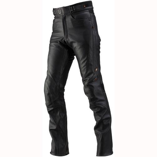 HYOD PRODUCTS ST-X D3O LEATHER PANTS(STRAIGHT) BLACK/GREY STITCH