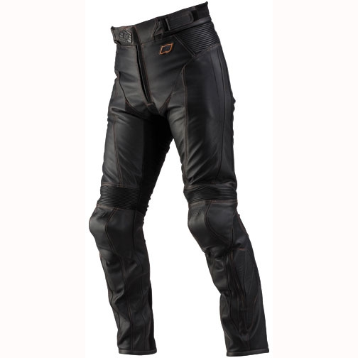 HYOD PRODUCTS ST-X D3O LEATHER PANTS(BOOTS-OUT) BLACK/ORANGE STITCH