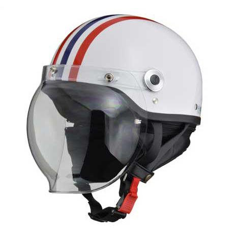 リード工業 バブルシールド付きハーフヘルメット