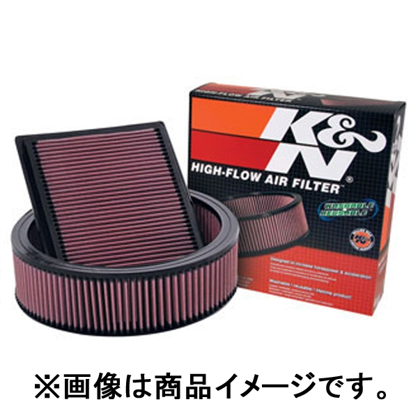 K&N カスタムフィルター ラウンドテーパー/クローム