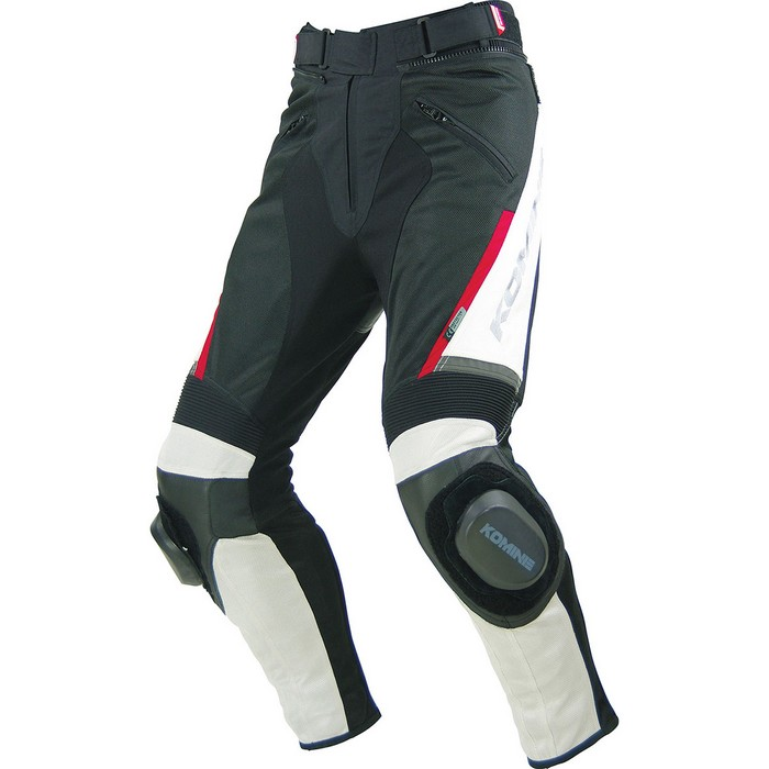 PK-717 スポーツライディングレザーメッシュパンツ アイボリー/ブラック◆全2色◆