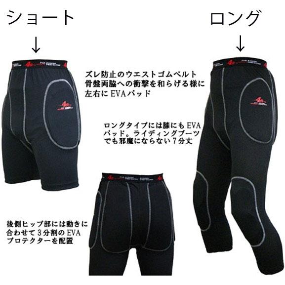 KIJIMA 4R プロテクター Relieve Pants ショート