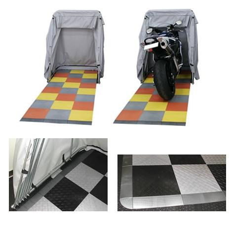 COORIDE バイクバーンスタンダード用 レースデッキ フローリングシステム ダイアモンドタイル