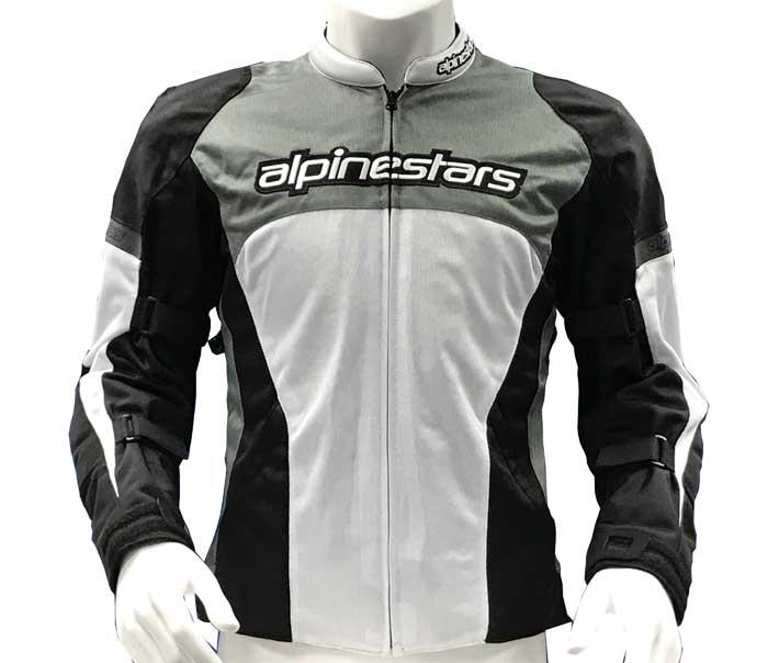 alpinestars 【WEB限定】3304513 FENDING AIR JACKET(スリムフィット)GRAY WHITE BLACK・Mサイズ
