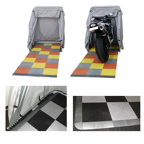 COORIDE バイクバーンツアラー用 レースデッキ フローリングシステム ダイアモンドタイル