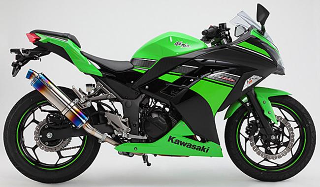 BEAMS R-EVO スリップオン ヒートチタン マフラー Ninja250