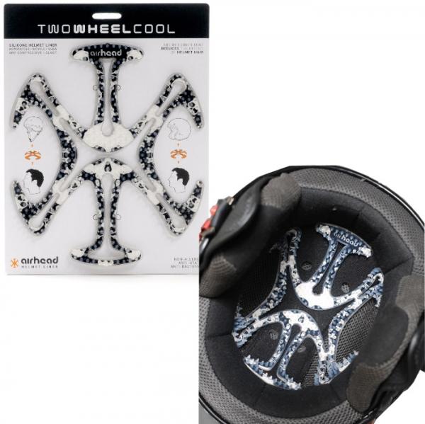 TWO WHEEL COOL AH03ヘルメットヘルメットベンチレーションライナー airhead(エアーヘッド)Skull 'n Bones
