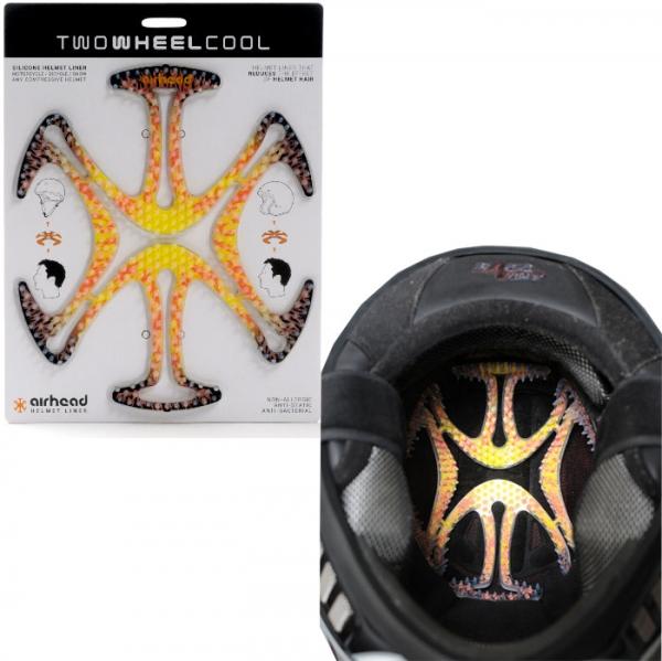 TWO WHEEL COOL AH05ヘルメットヘルメットベンチレーションライナー airhead(エアーヘッド)Flames