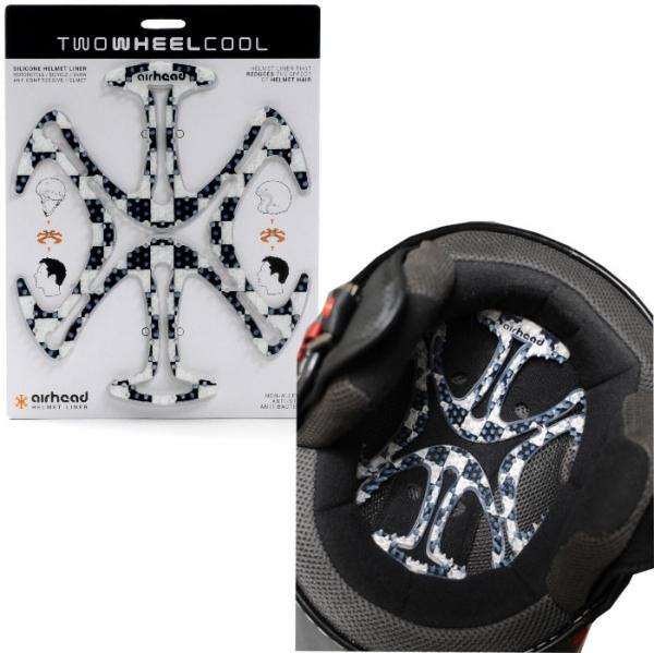 TWO WHEEL COOL 【欠品中 9月上旬以降】AH06ヘルメットヘルメットベンチレーションライナー airhead(エアーヘッド)Chequered
