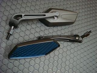 KN企画 KOSOバックミラー GTミラー ネジ径 8/10mm【ブルーレンズ】