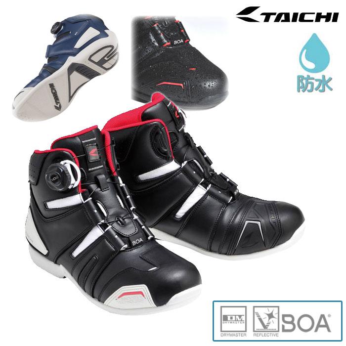 アールエスタイチ 〔WEB価格〕RSS006 DRYMASTER BOA ライディングシューズ  防水 透湿 スニーカー 靴 バイク用 ブラック/ホワイト ◆全7色◆