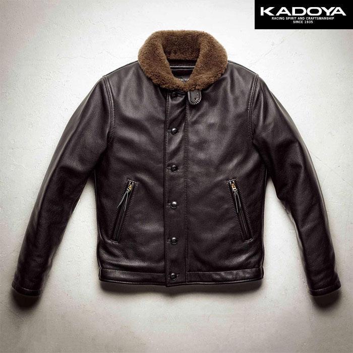 KADOYA 〔WEB価格〕【受注生産】 【大きいサイズ】 HF/N-1 レザージャケット 防寒 防風