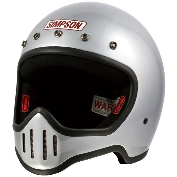SIMPSON 【お取り寄せ】M50 フルフェイスヘルメット シルバー