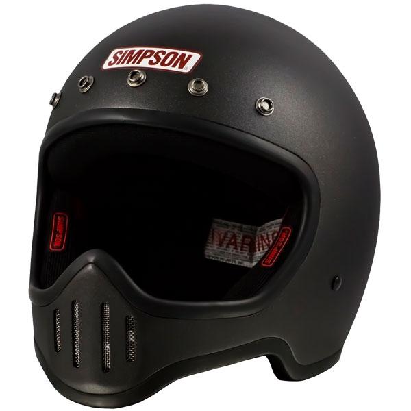 SIMPSON 【お取り寄せ】 M50 フルフェイスヘルメット ストーン ブラック