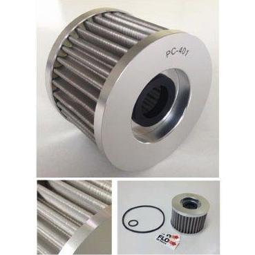 PCレーシング FLO ステンレスオイルフィルター エレメントタイプ