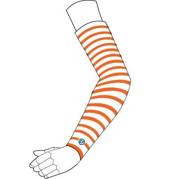 Stream Trail 【春夏ウェアアウトレット】個別配送のみ UV ARM SLEEVE カラーリング Orange
