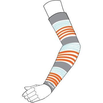 Stream Trail 【春夏ウェアアウトレット】個別配送のみ UV ARM SLEEVE カラーリング Orange-Blue