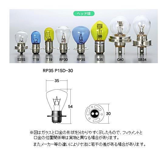 M&Hマツシマ ヘッドライト用白熱電球 12V35/35W