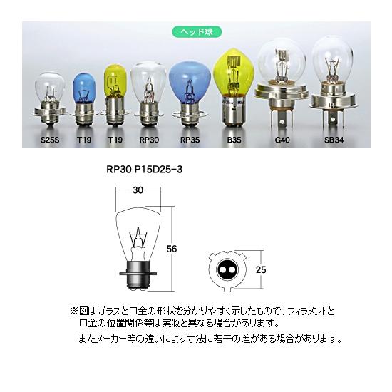 M&Hマツシマ ヘッドライト用白熱電球 12V45/45W