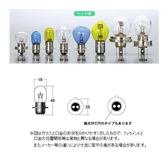 M&Hマツシマ ヘッドライト用白熱電球 6V25/25W