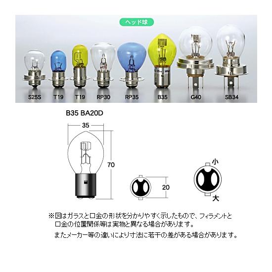 M&Hマツシマ ヘッドライト用白熱電球 12V45/40W
