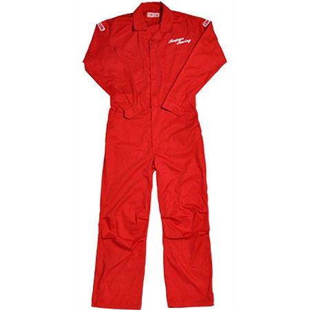 SIMPSON 【通販限定】在庫限りの大特価!!SMS-201メカニックスーツ つなぎ作業服 レッド Lサイズ