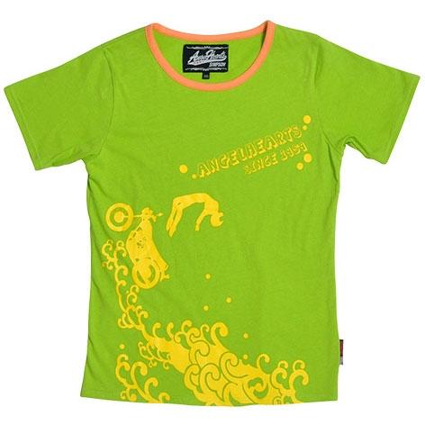SIMPSON 【春夏ウェアアウトレット】個別配送のみ Angel Hearts レディース Tシャツ ライムグリーン