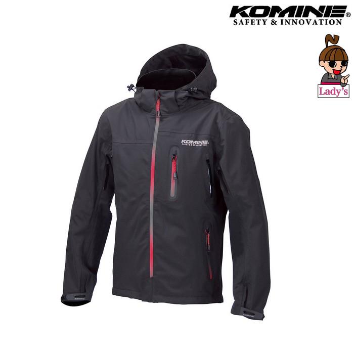 komine レディース JK-555 WP プロテクション3L パーカ ブラック/グラデーションレッド ◆全4色◆