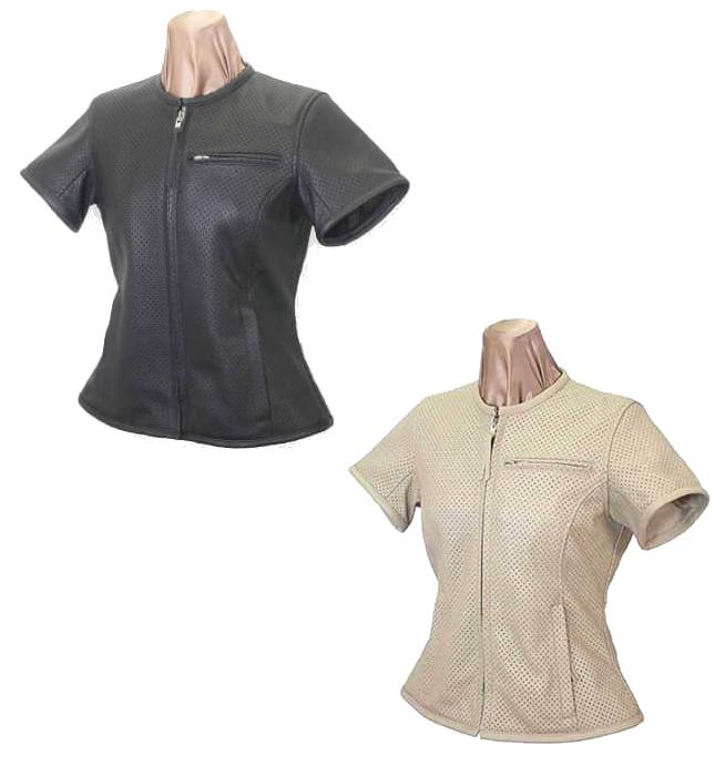 KADOYA レディース PLT パンチングレザーTシャツ
