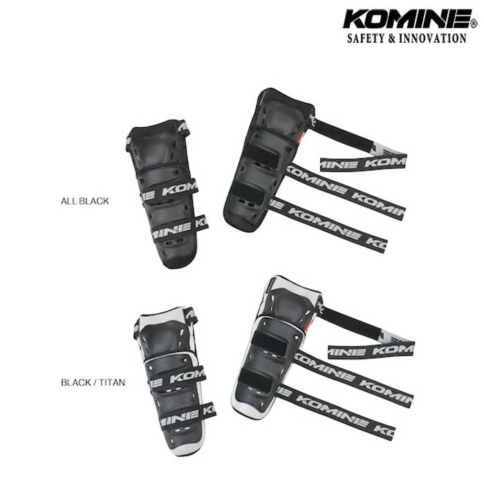 komine SK-690 【キッズ】 CEフレックスニーガード ブラック/チタン◆全2色◆