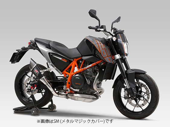 YOSHIMURA JAPAN 【お取り寄せ】Slip-On R-11 サイクロン 1エンド EXPORT SPEC 690 DUKE/R  '14-'15〔決済区分:代引き不可〕