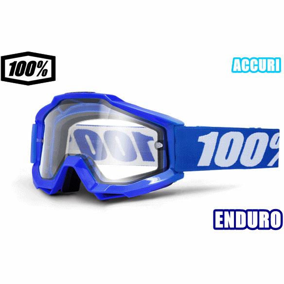 100% 18モデル ゴーグル ACCURI ENDURO 【アキュリ エンデューロ】 REFLEX BLUE