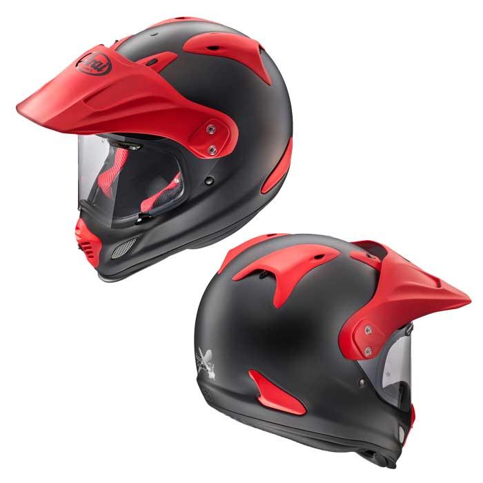 Arai TOUR-CROSS3 オフロード ヘルメット フラットブラック / レッド