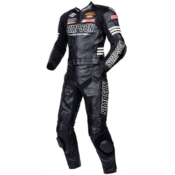 SIMPSON 2PSレザースーツ ブラック