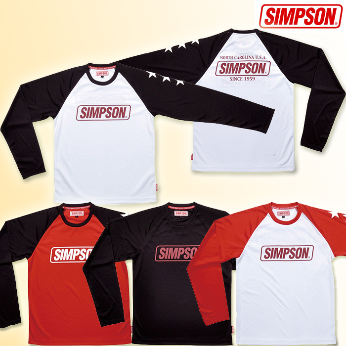 SIMPSON ST-118 ロングスリーブTシャツ 長袖Tシャツ 長袖シャツ