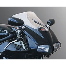 Magical Racing レーサーレプリカミラー RR-Dタイプ Type-1ヘッド/平織カーボン製/シルバーショートステム/フィッティングプレートAタイプ