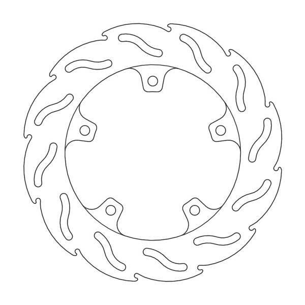 MOTOMASTER リアブレーキディスク【フレイム】