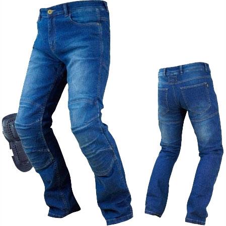 大きいサイズ  PK-726 フルイヤーケブラーデニムジーンズ インディゴブルー◆全2色◆