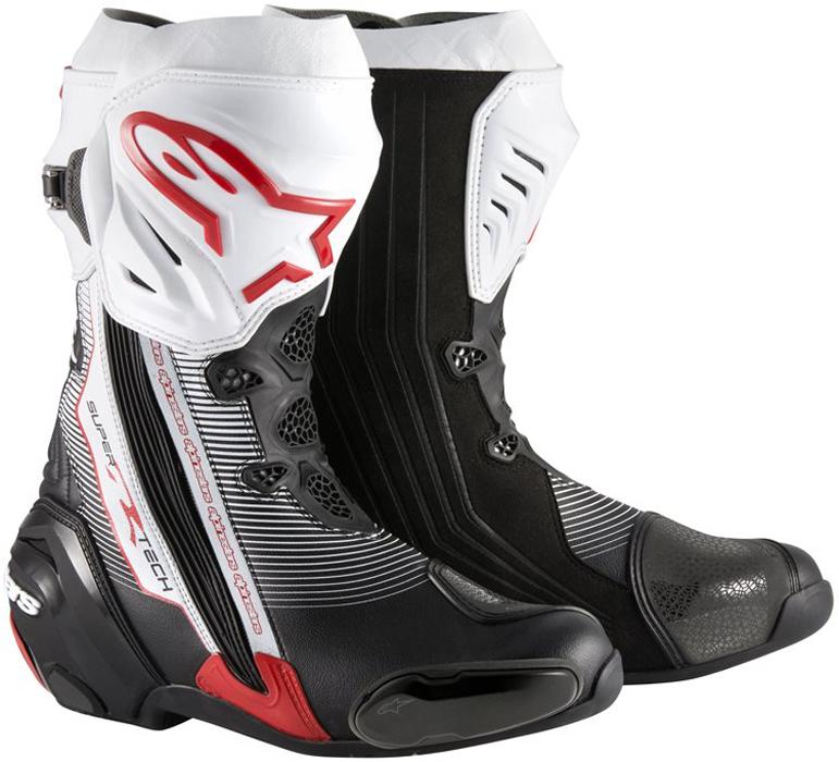 alpinestars SUPERTECH R BOOTS BLACK RED WHITE(132)