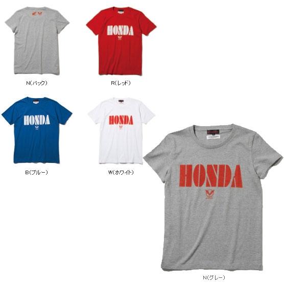 HONDA 【春夏ウェアアウトレット】個別配送のみ 半袖Tシャツ A R(レッド)