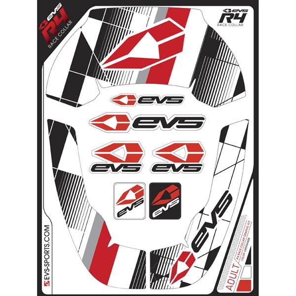 EVS グラフィックキット R4 ネックサポート用 クロスフェード/レッド ADULT